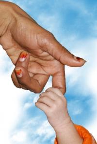 finger & baby hand